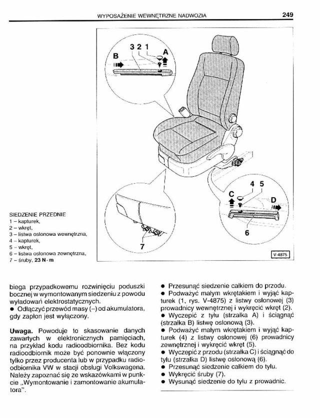Demontaż Foteli Przednich Passat B5 3b I 3bg Passat Forum