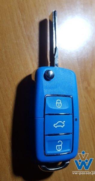 Obudowa kluczyka niebieska