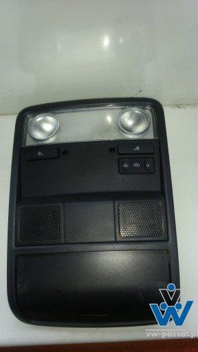 Lampka podsufitki B6 B7 czarna + ramka