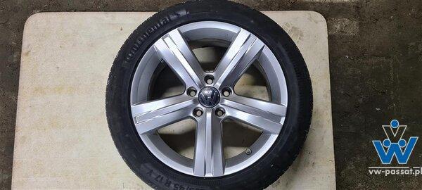 Opony Continental Premium Contact 6 na oryginalnych alufelgach VW z czujnikami ciśnienia TPMS