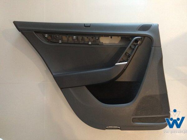 Tapicerka drzwi sedan tył lewy / prawy rolety przeciwsłoneczne / skóra / chrom