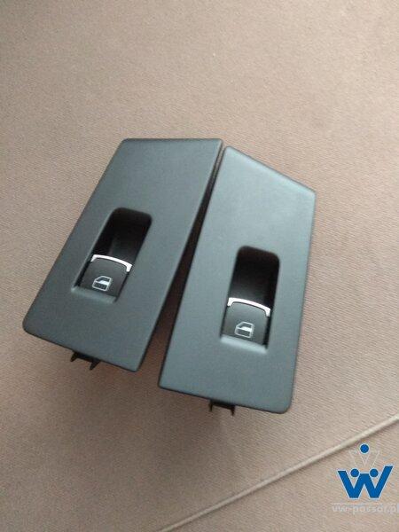 Przełącznik szyby prawy / lewy tył chrom passat b7